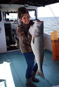 Striped Bass Fishing Islander