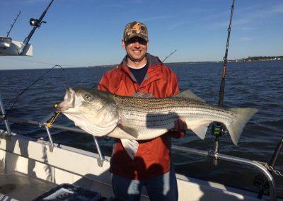 Landing Striped Bass
